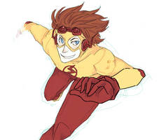 Kid Flash by SpadeRabbit66