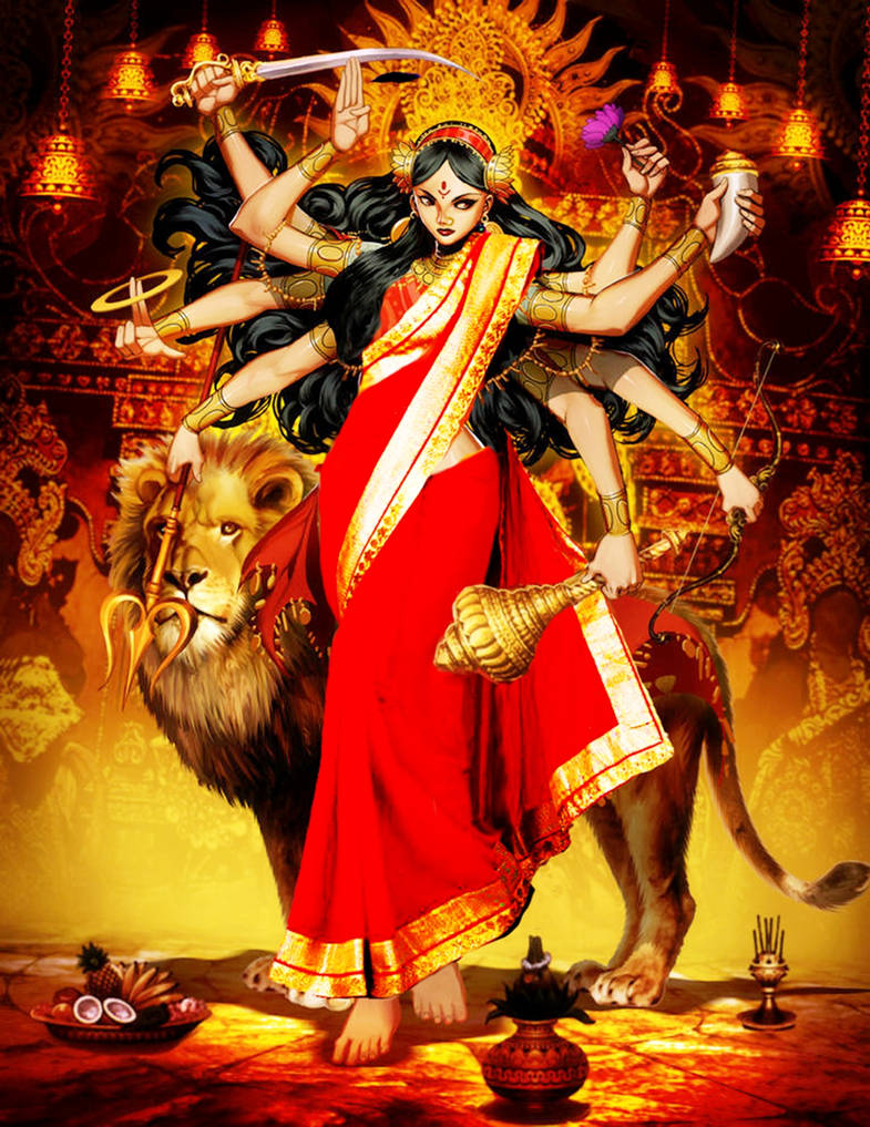 Explore Best Durga Art On Deviantart