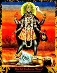 Maa Kali Standing on Shava by Ravimishra085