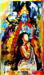 Kalighat painting by Ravimishra085