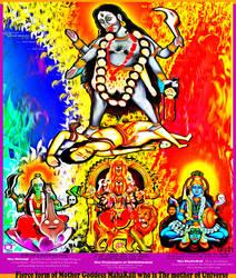 fierce form of mother goddess by Ravimishra085