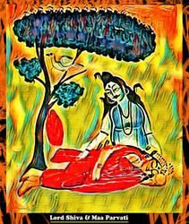Lord Shiva and Maa Parvati by Ravimishra085