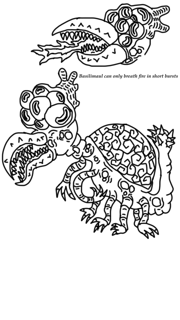 Basilimaul  by DiplodocusDinosaur