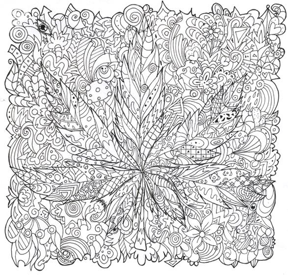 Trippy Mushroom Coloring Pages 420 by liquid-mushroom