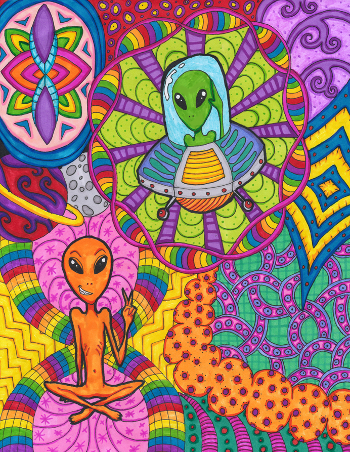 Psychedelic Mushrooms Drawings Easy Www Picturesboss Com