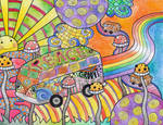Hippie Van Goes To LaLa Land
