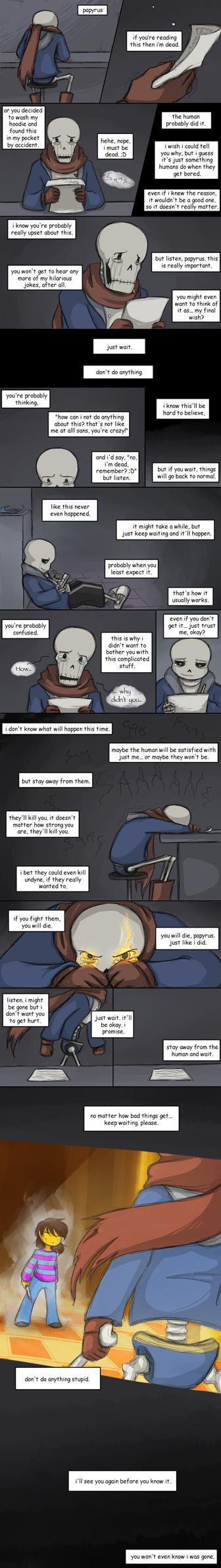 [UNDERTALE SPOILERS] it'll be okay by zarla