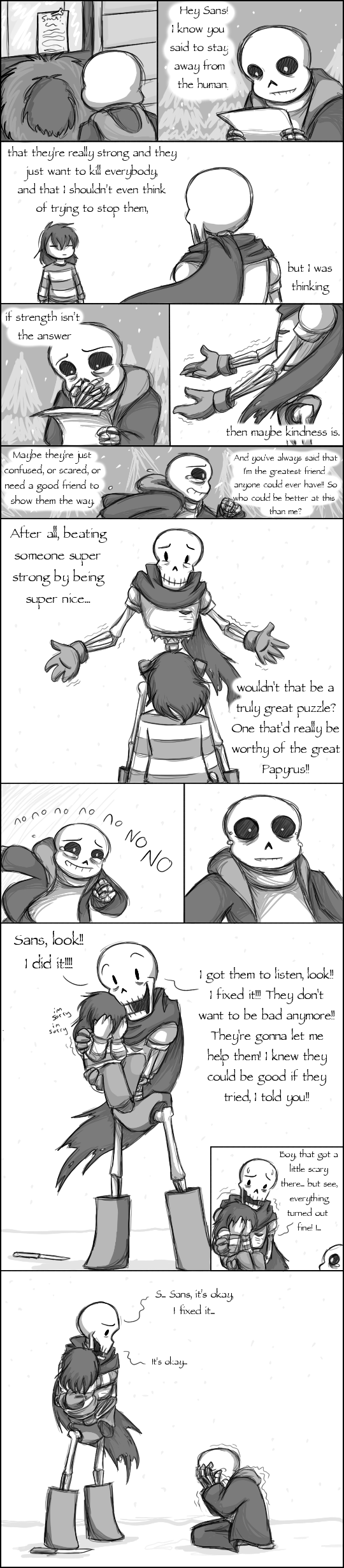 [UNDERTALE SPOILERS] Is this bravery by zarla