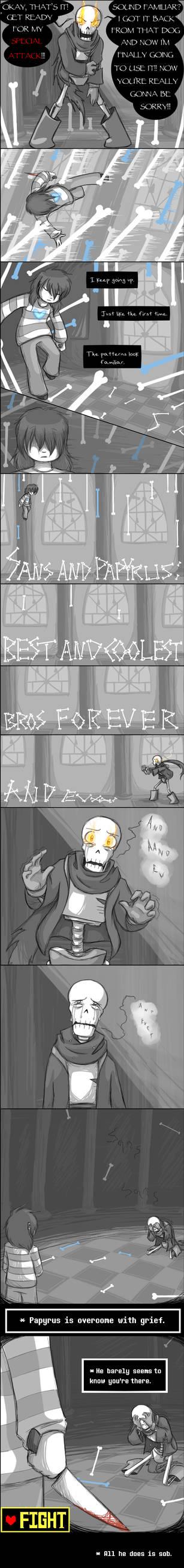 [UNDERTALE SPOILERS...?] The most precious attack