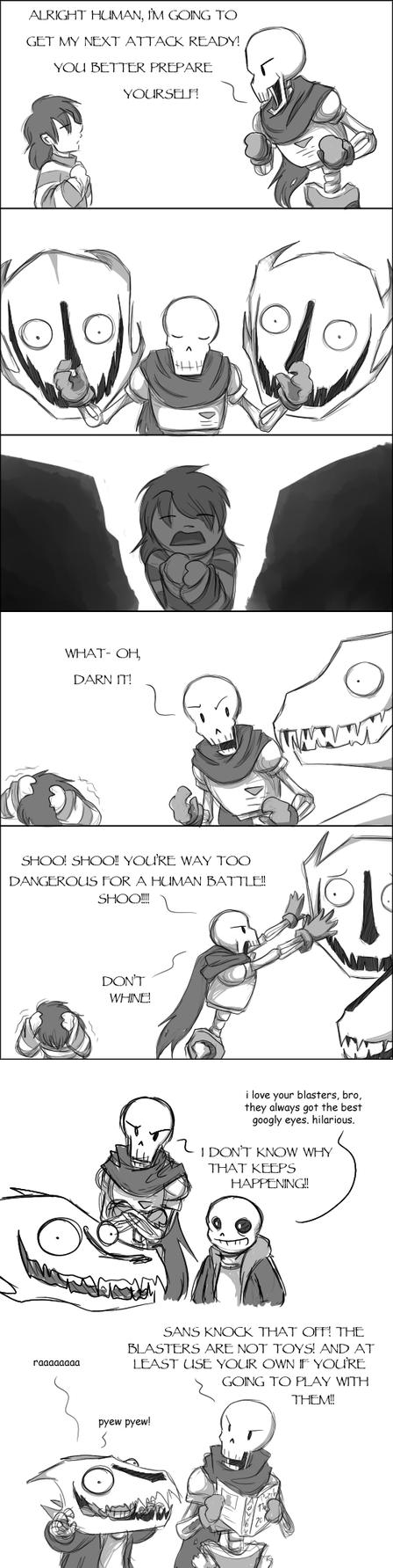 [UNDERTALE SPOILERS?] Blaster fun by zarla
