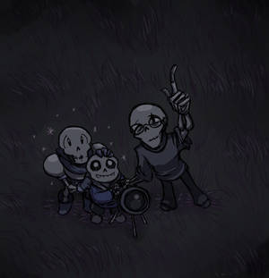 And up there is big skeleton and little skeleton