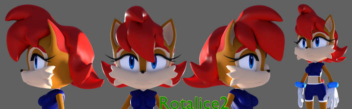 Sally Acorn Redux Wip by Rotalice2