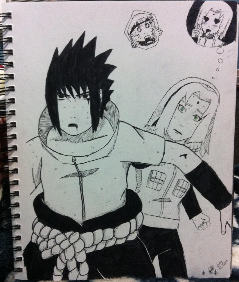 sasuke protects sakura wallpaper - photo #3