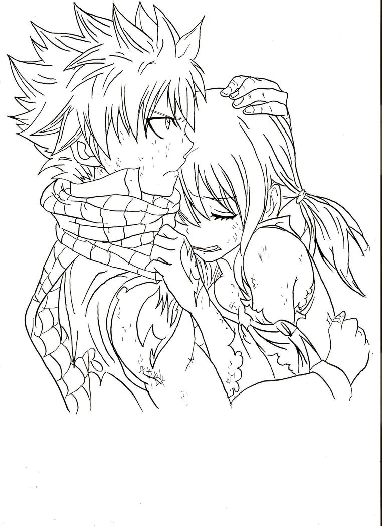 Natsu dragoneel lucy heartfilia fairy tail by - Lucy fairy tail drawing ...