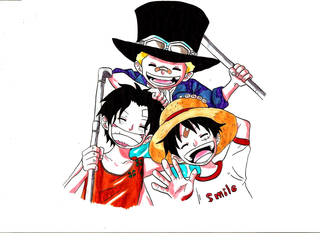Portgas D Ace Sabo Monkey D Luffy One Piece By