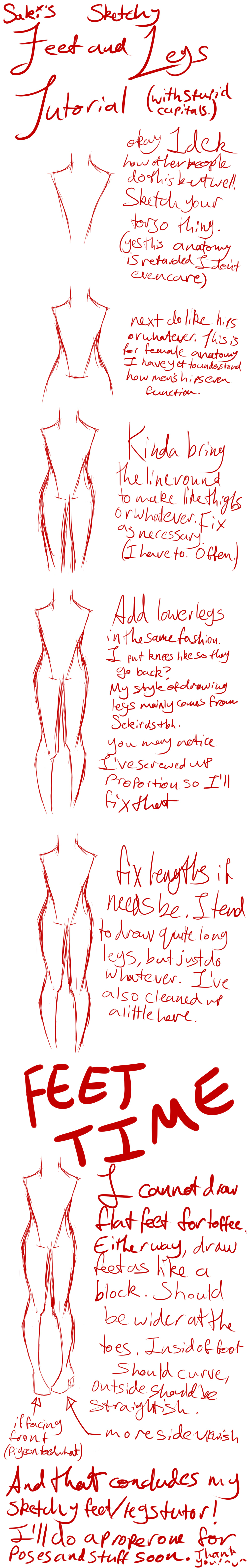 A very sketchy foot and leg tutorial by Sakkeru