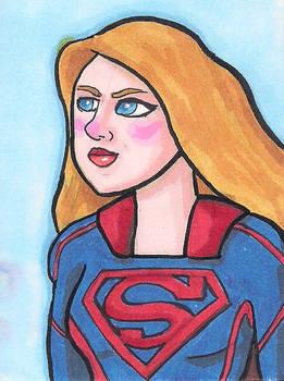 Supergirl sketch card