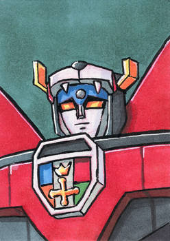 Voltron sketch card
