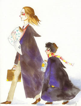 Mr Lupin and Harry Potter