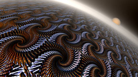 Dawn in Fractal Planet by mario837