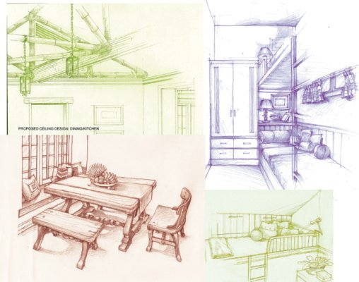 Interior Sketch Collage 02 By Hmtm20 On Deviantart