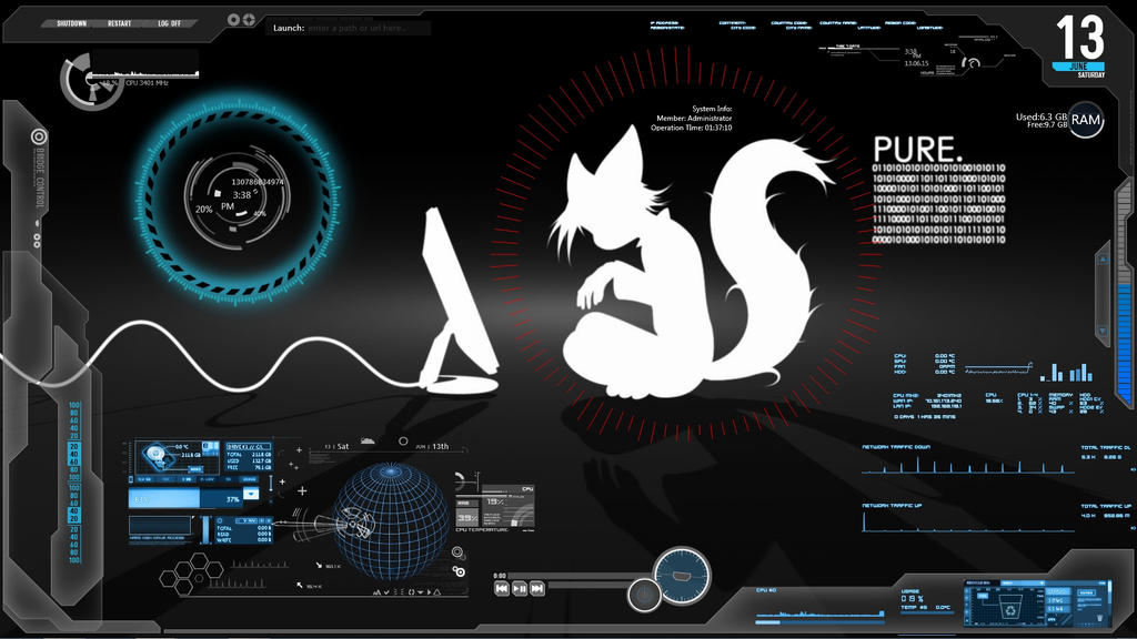 My Current Desktop Future Tech Furry By Royal Flush Pony