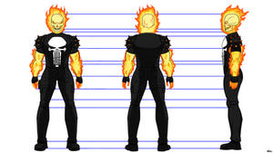 Ghost Rider (Punisher) reference sheet