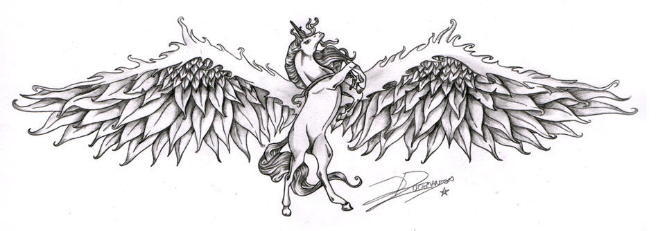 Winged Unicorn Stencil Keywords And Pictures