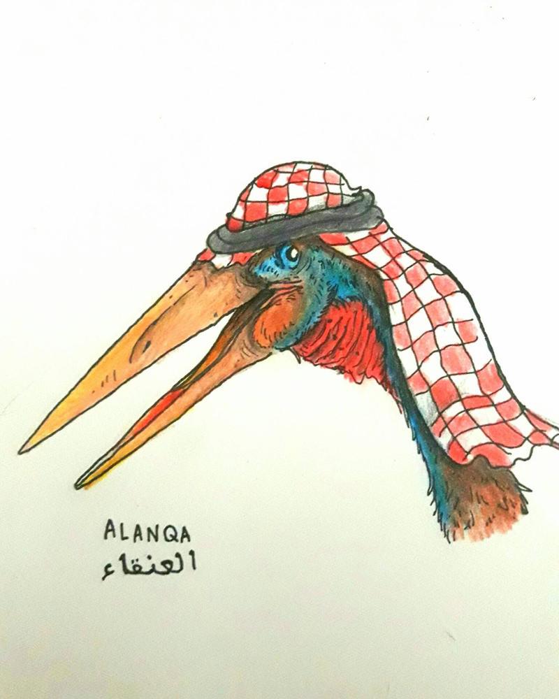 Alanqa Wearing a Keffiyeh by Rizzysaur