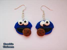 Cookie monster earrings by Galadriel89
