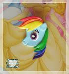 Rainbow Dash 2 in 1 brooch and pendant