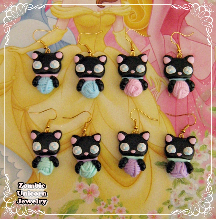 Cat Lady earrings by Galadriel89