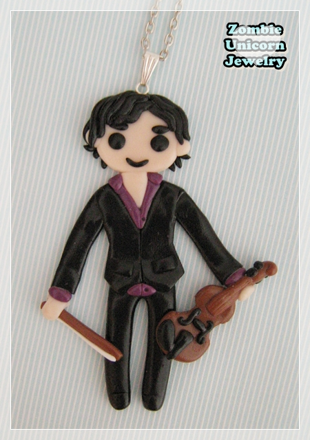 Sherlock Holmes with violin necklace by Galadriel89