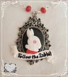 Follow the rabbit necklace closeup
