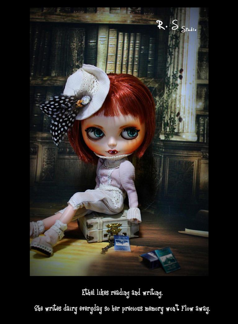 Custom blythe Vampire Ethel 03
