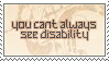 disability samp by catstam