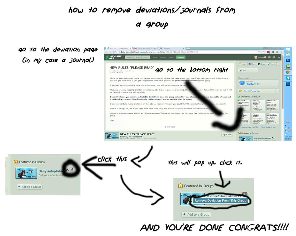 how to remove deviations from groups by catstam