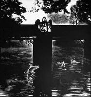 Scratchboard - Swan Lake by lithele