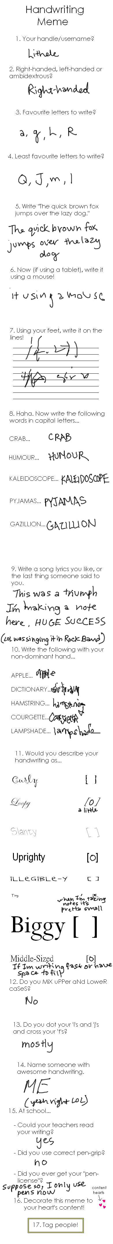 Handwriting meme by lithele