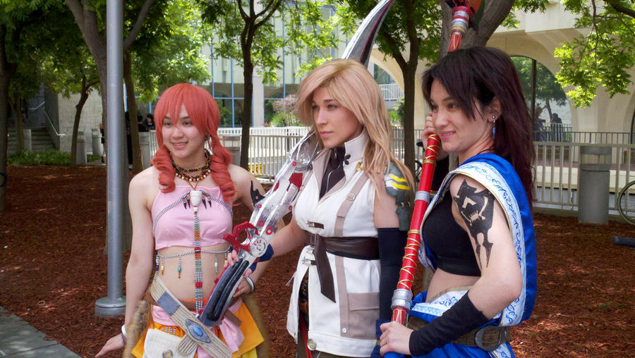 Vanille, Lightning, and Fang by lithele