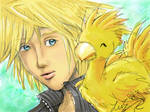 Cloud + baby chocobo