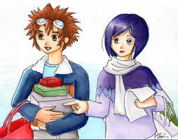 Daisuke and Ken Christmas card