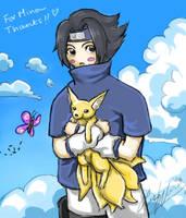 Sasuke chibi by lithele