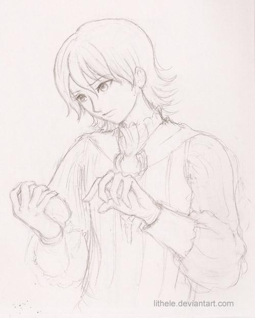 FF12 - Larsa sketch by lithele