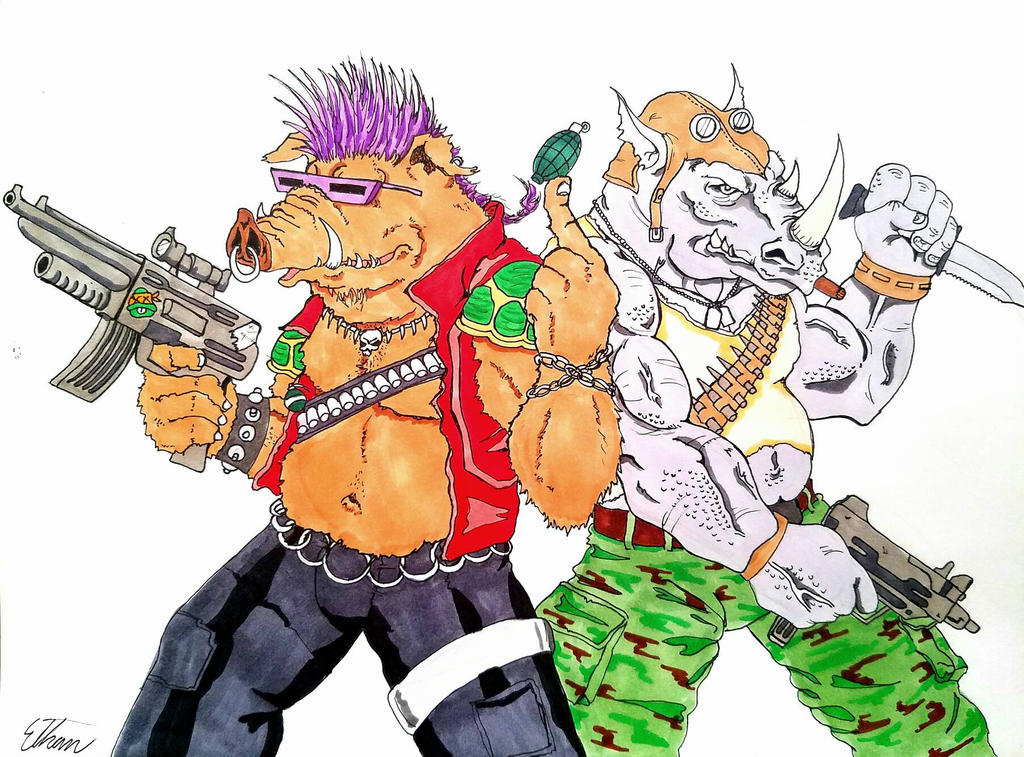 Bebop and Rocksteady  by theClementine17