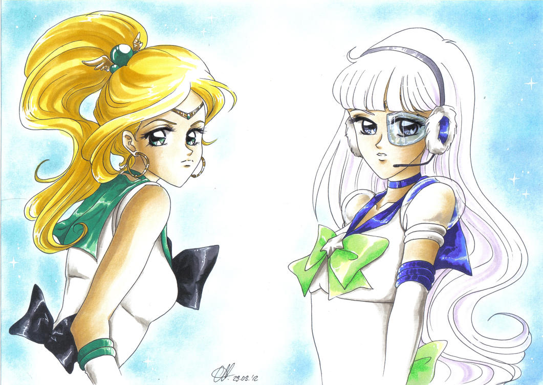 PC: Sailor Iris and Sailor Astraea by MTToto