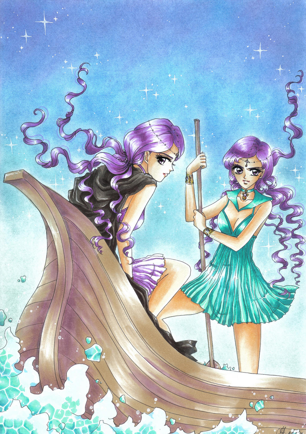 Sailor Lethe and Sailor Mnemosyne by Toto-the-catSailor Lethe And Sailor Mnemosyne