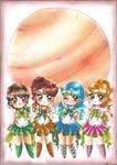 C: Chibi Jupiter Moon Senshi group