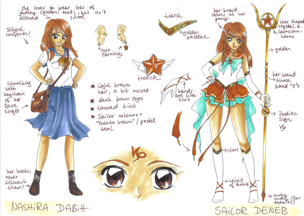 Reference Sheet: Sailor Deneb by MTToto