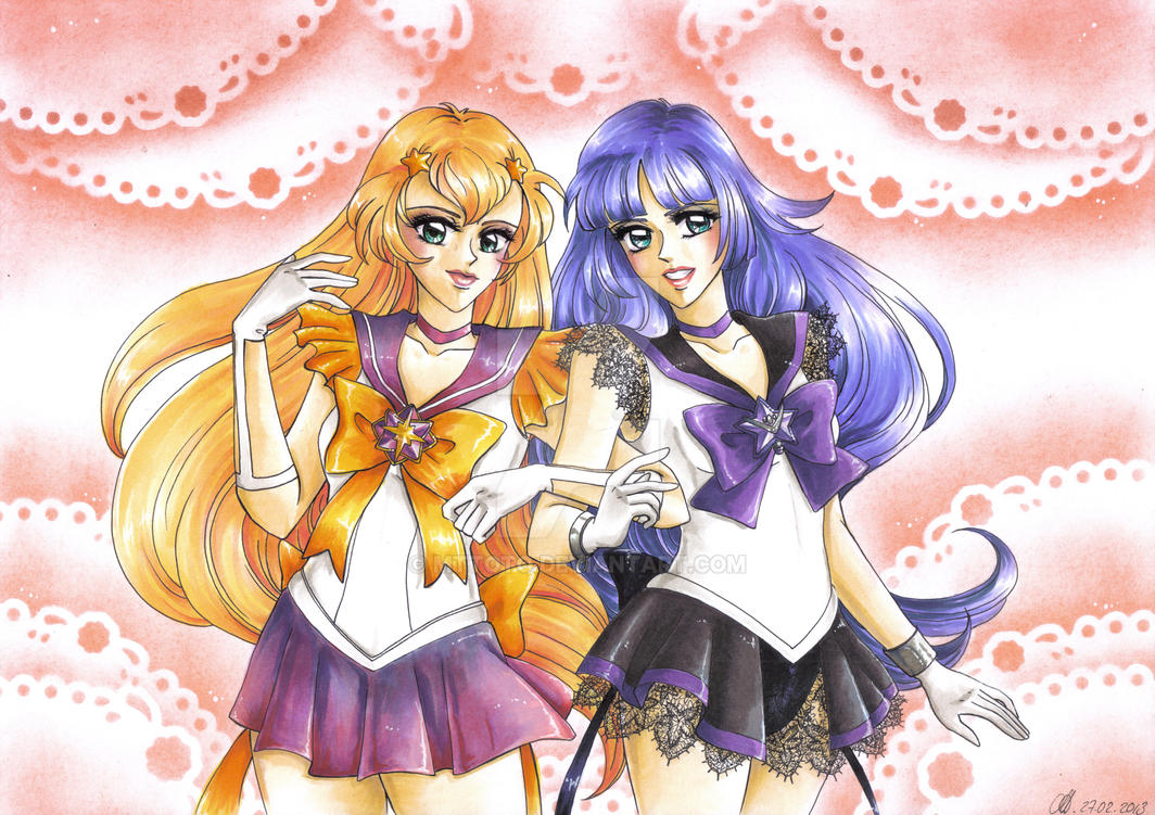 C: Sailor Star Dazzle and Sailor Andromeda by Toto-the-cat